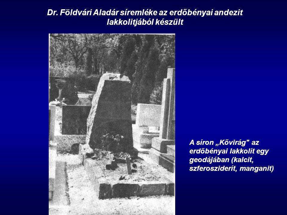 Dr. Földvári Aladár síremléke az erdőbényai andezit lakkolitjából készült