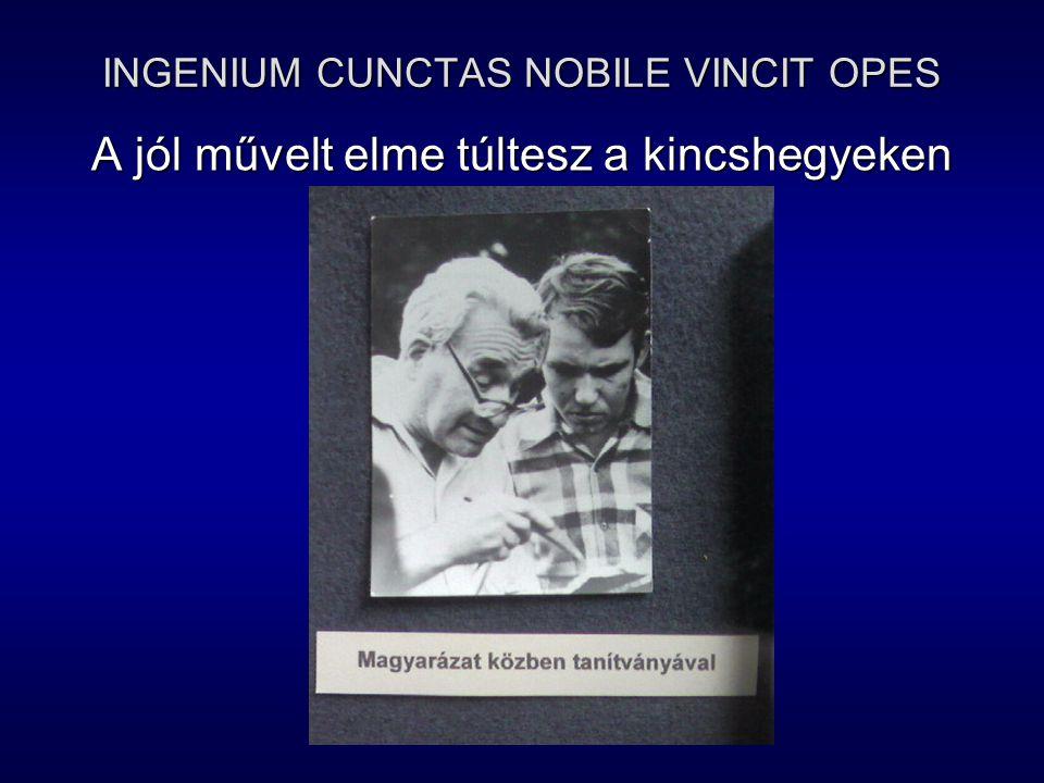 INGENIUM CUNCTAS NOBILE VINCIT OPES