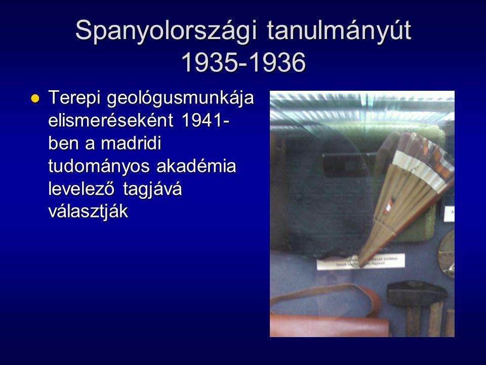 Spanyolországi tanulmányút 1935-1936