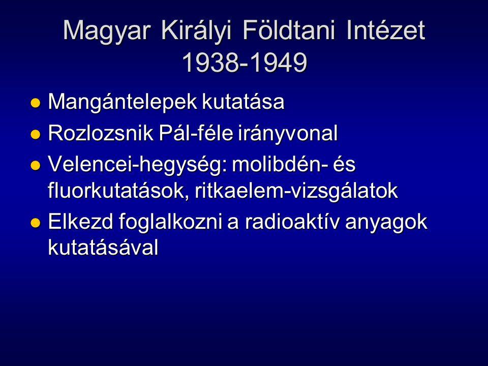 Magyar Királyi Földtani Intézet 1938-1949