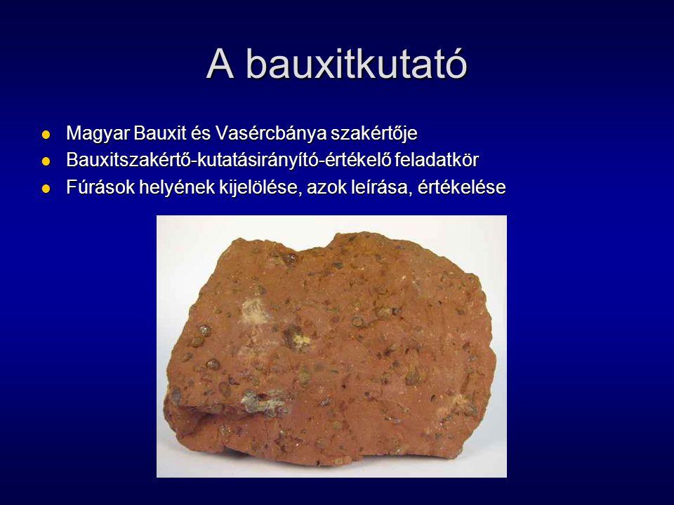 A bauxitkutató Magyar Bauxit és Vasércbánya szakértője