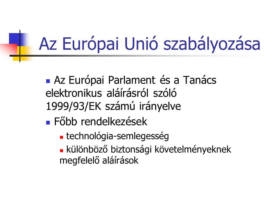 Az Európai Unió szabályozása