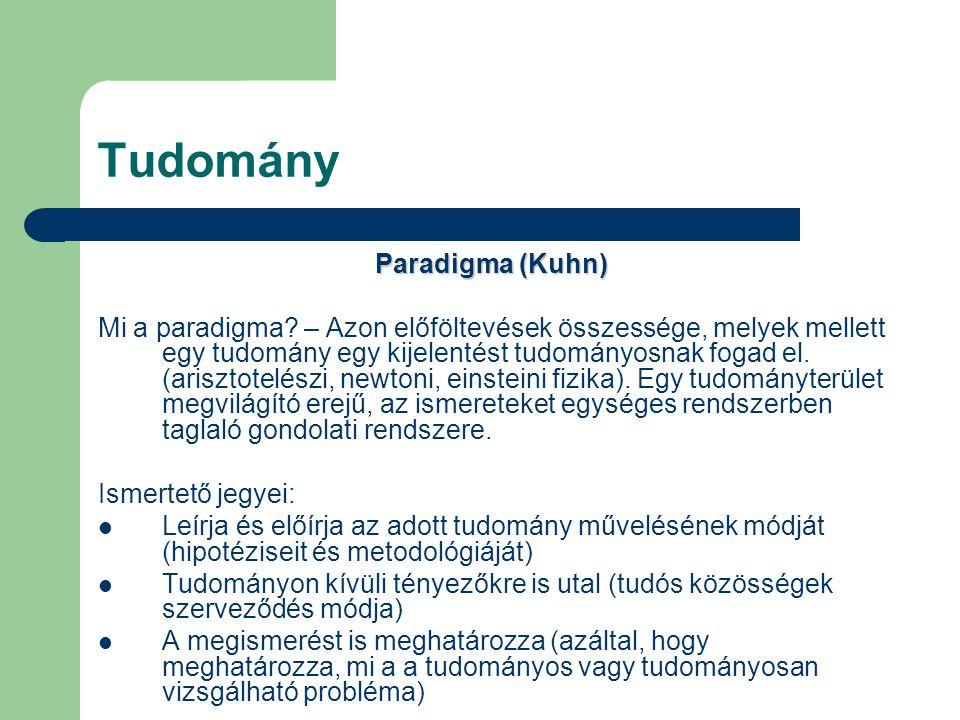 Tudomány Paradigma (Kuhn)