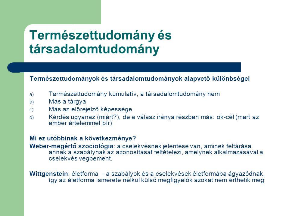 Természettudomány és társadalomtudomány