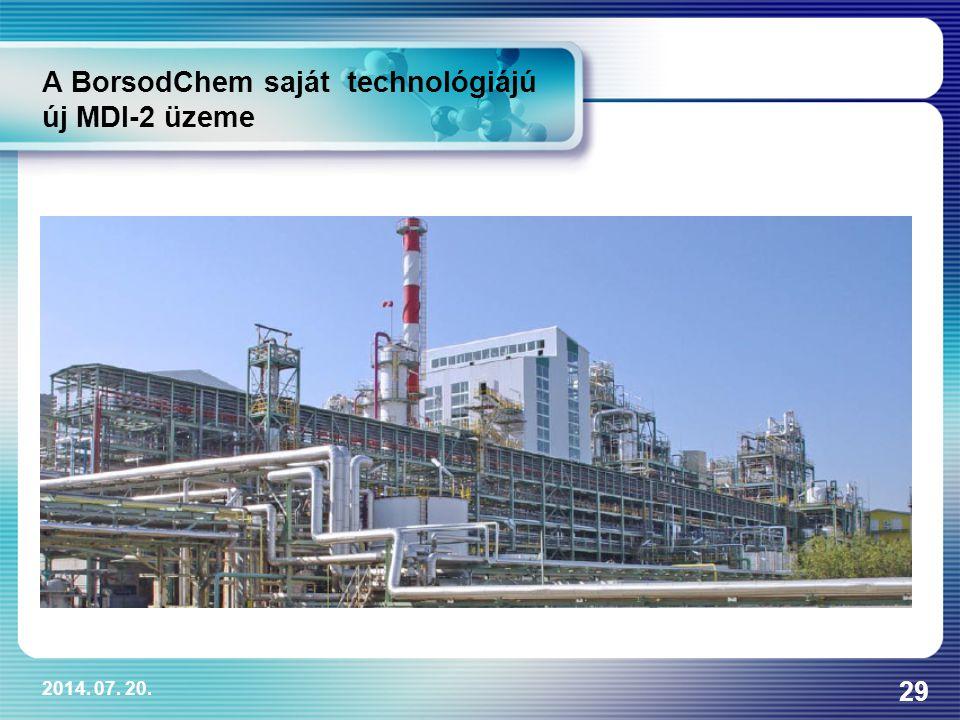 A BorsodChem saját technológiájú új MDI-2 üzeme