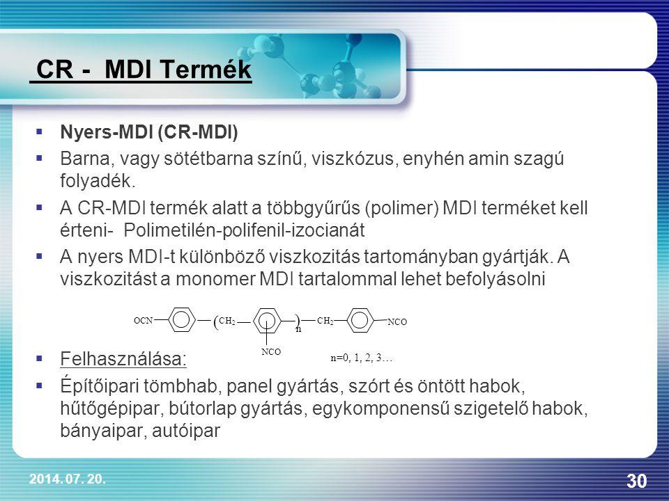 CR - MDI Termék Nyers-MDI (CR-MDI)