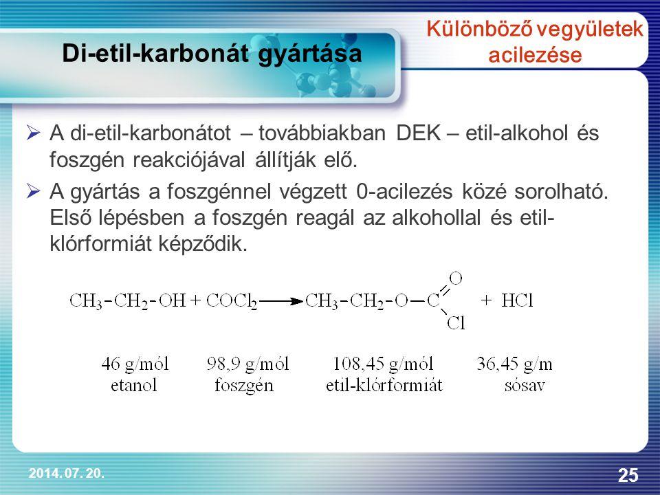 Különböző vegyületek acilezése