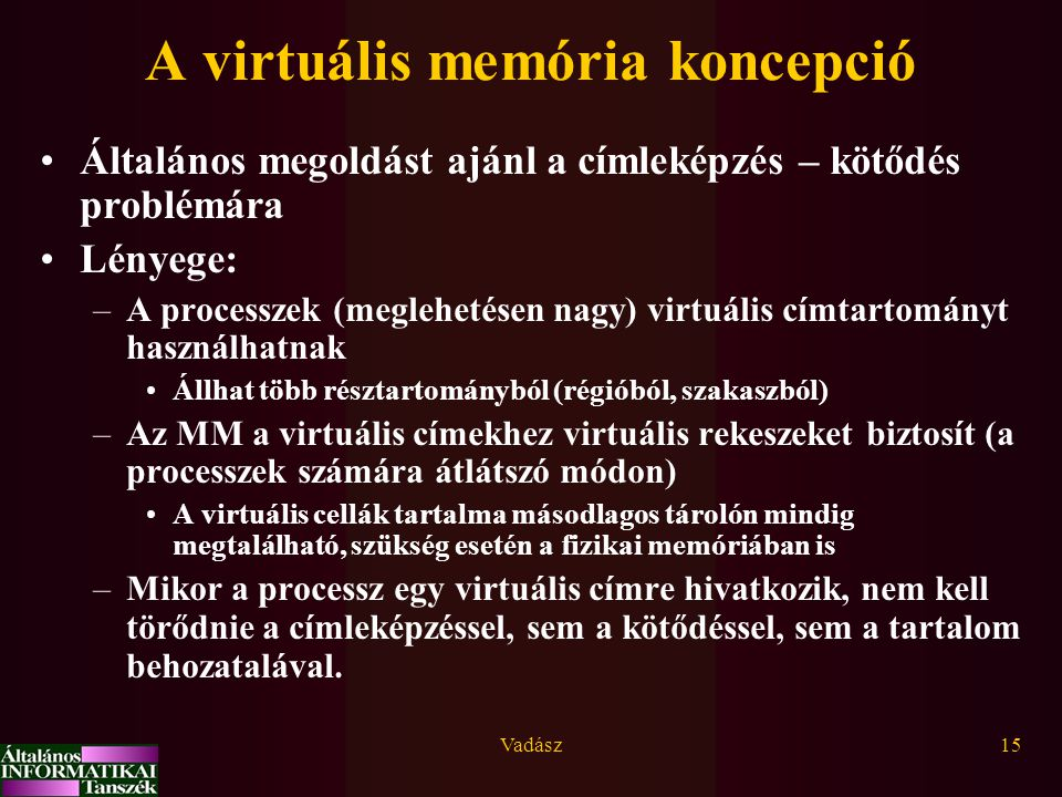 A virtuális memória koncepció