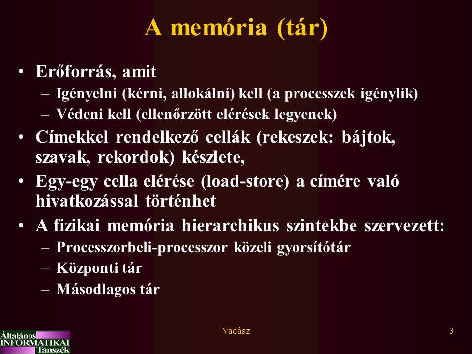 A memória (tár) Erőforrás, amit