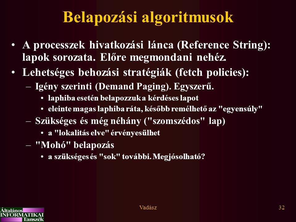 Belapozási algoritmusok