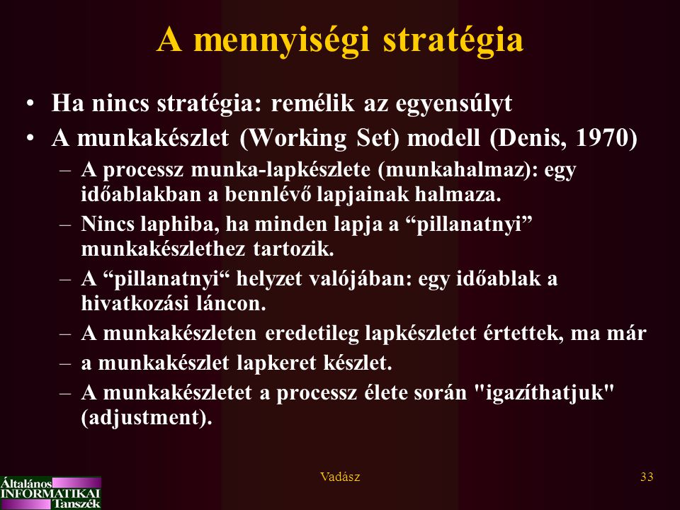 A mennyiségi stratégia