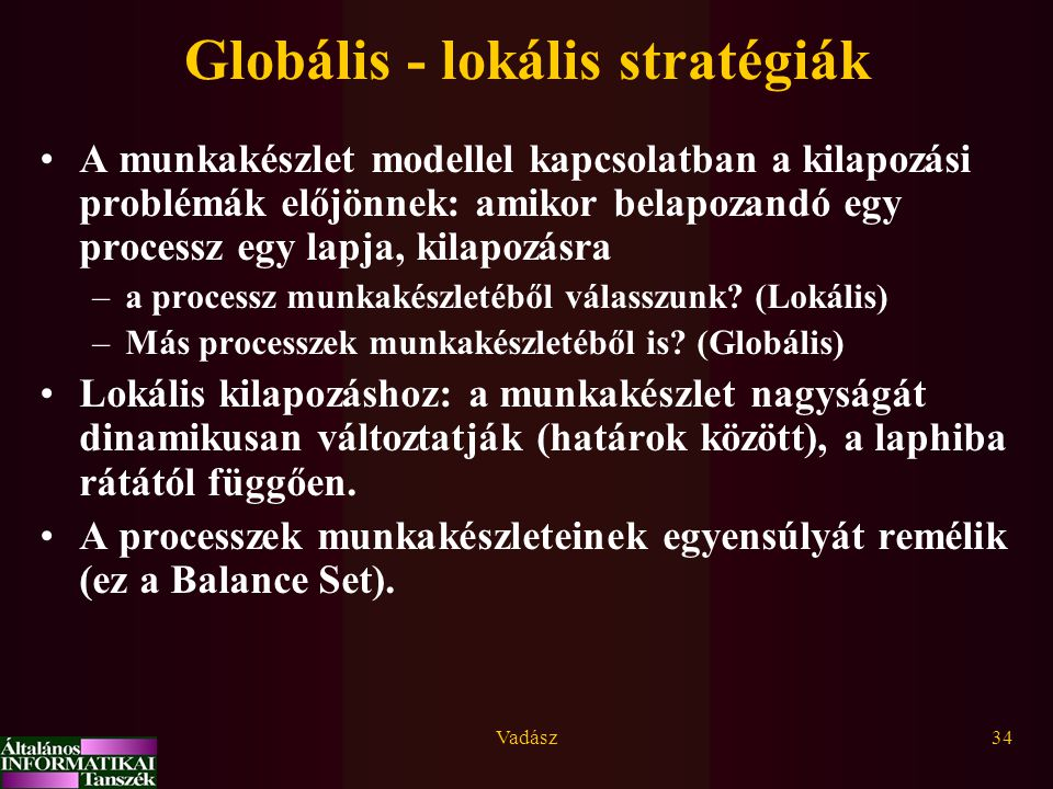 Globális - lokális stratégiák