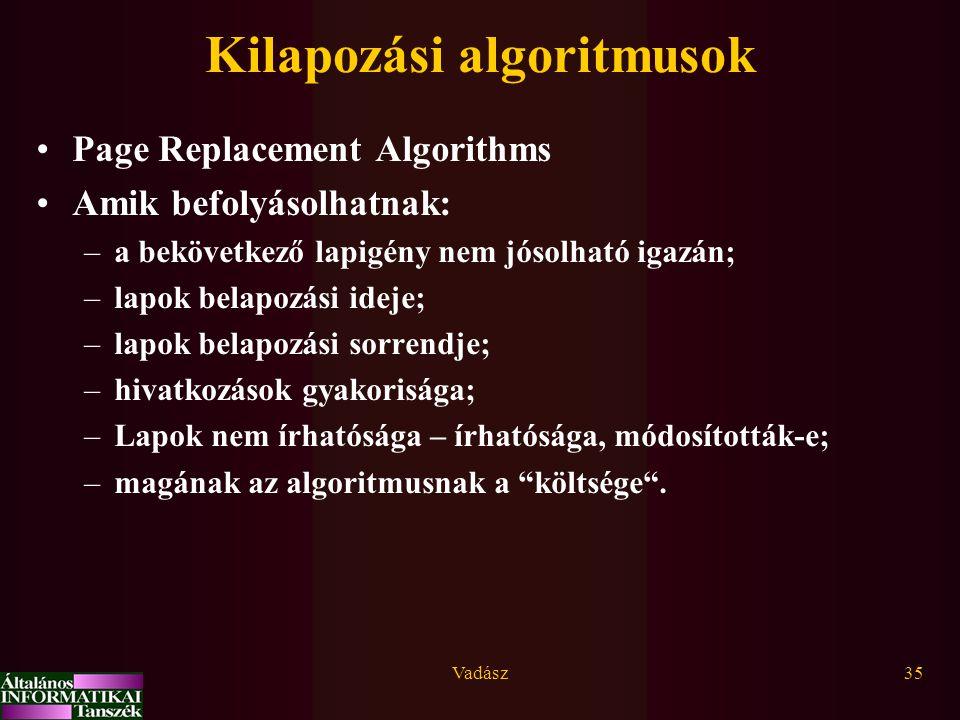 Kilapozási algoritmusok