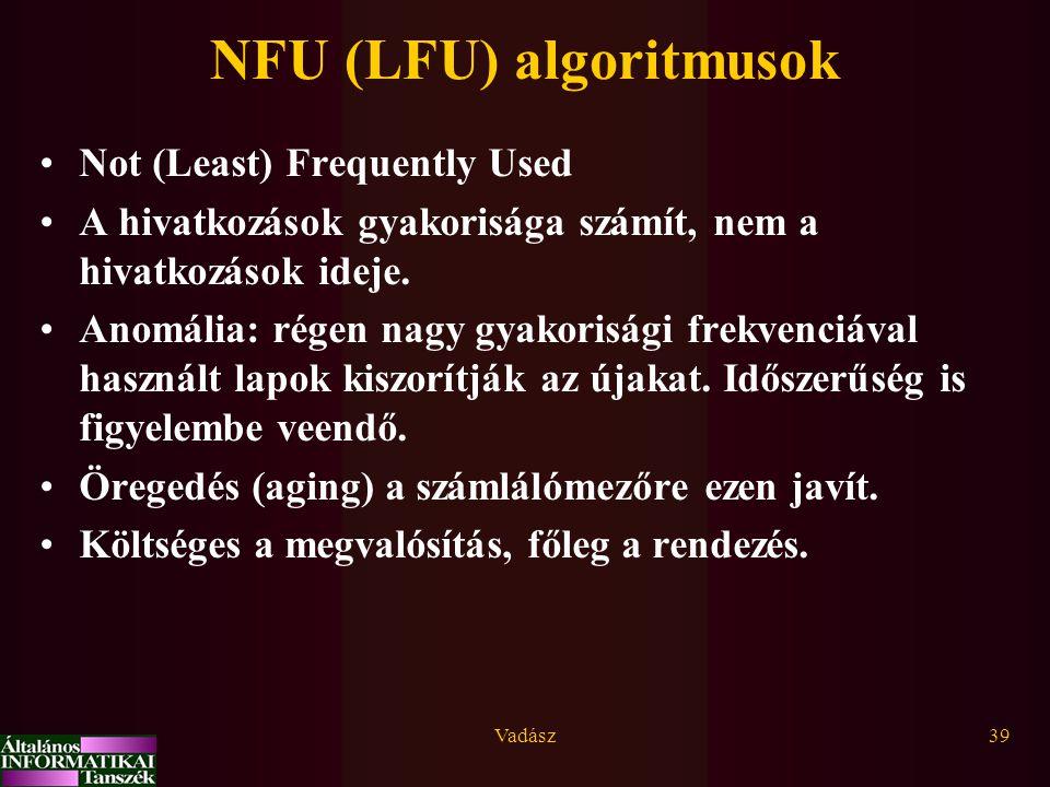 NFU (LFU) algoritmusok