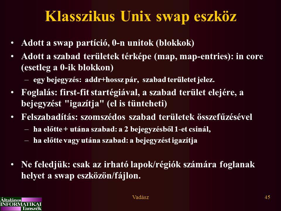 Klasszikus Unix swap eszköz