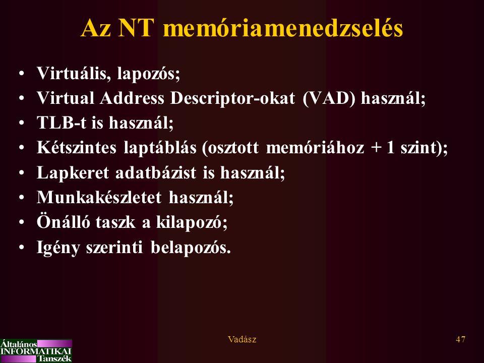 Az NT memóriamenedzselés