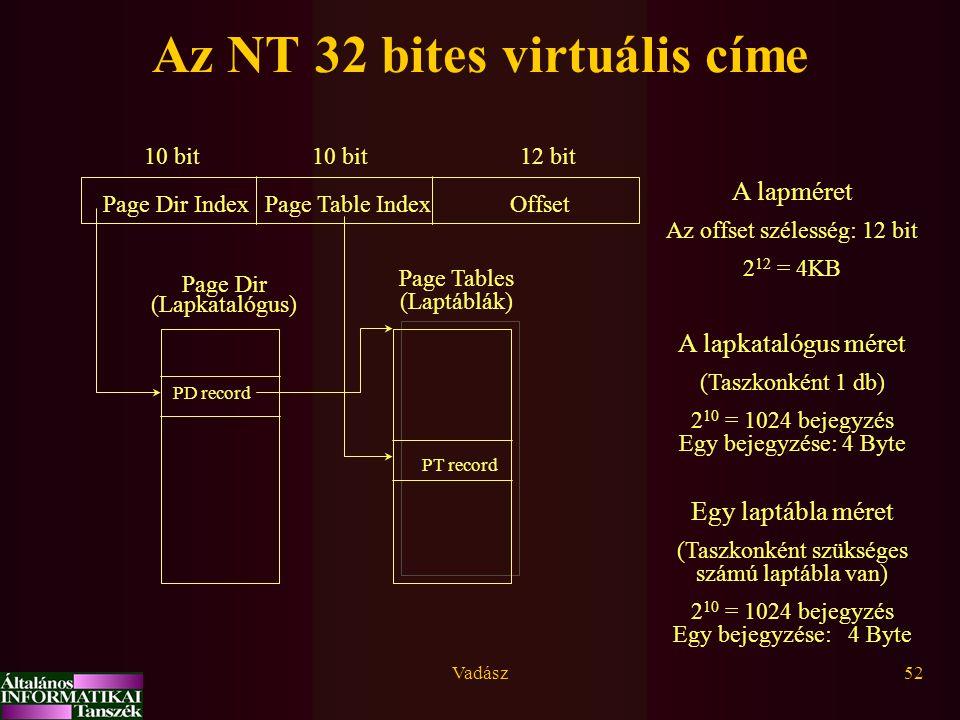 Az NT 32 bites virtuális címe