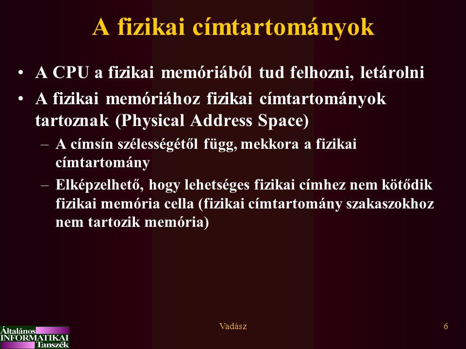 A fizikai címtartományok