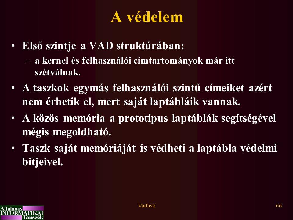 A védelem Első szintje a VAD struktúrában: