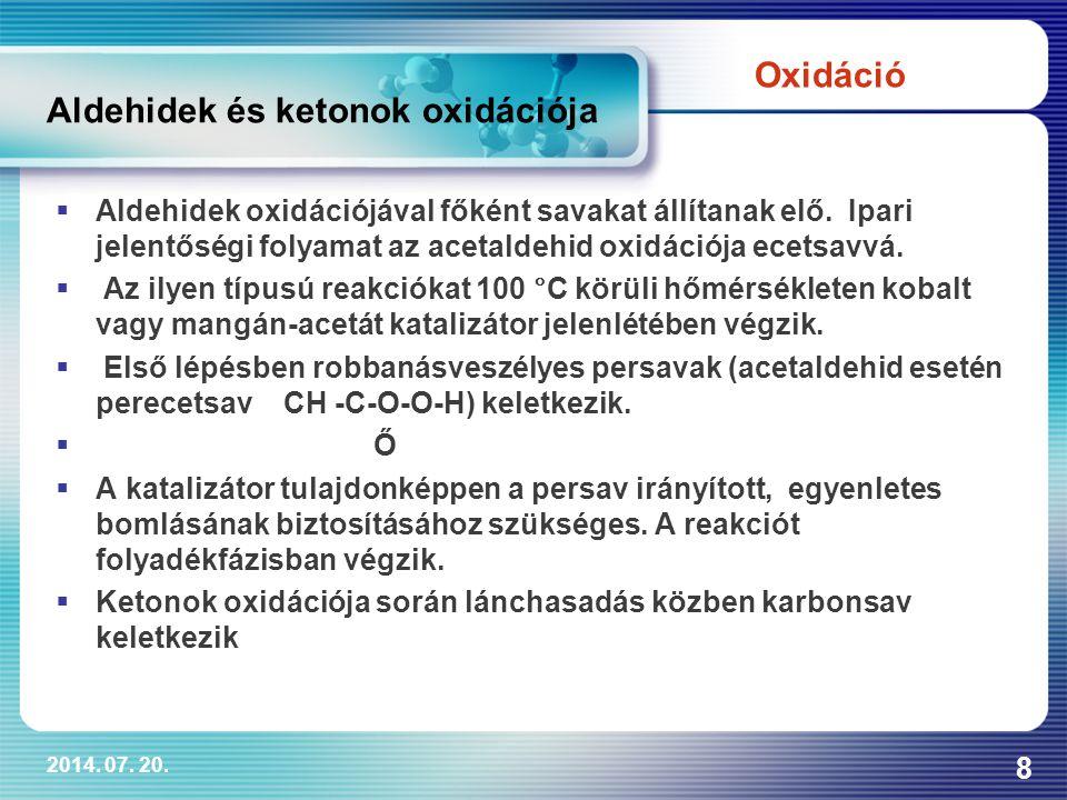 Aldehidek és ketonok oxidációja