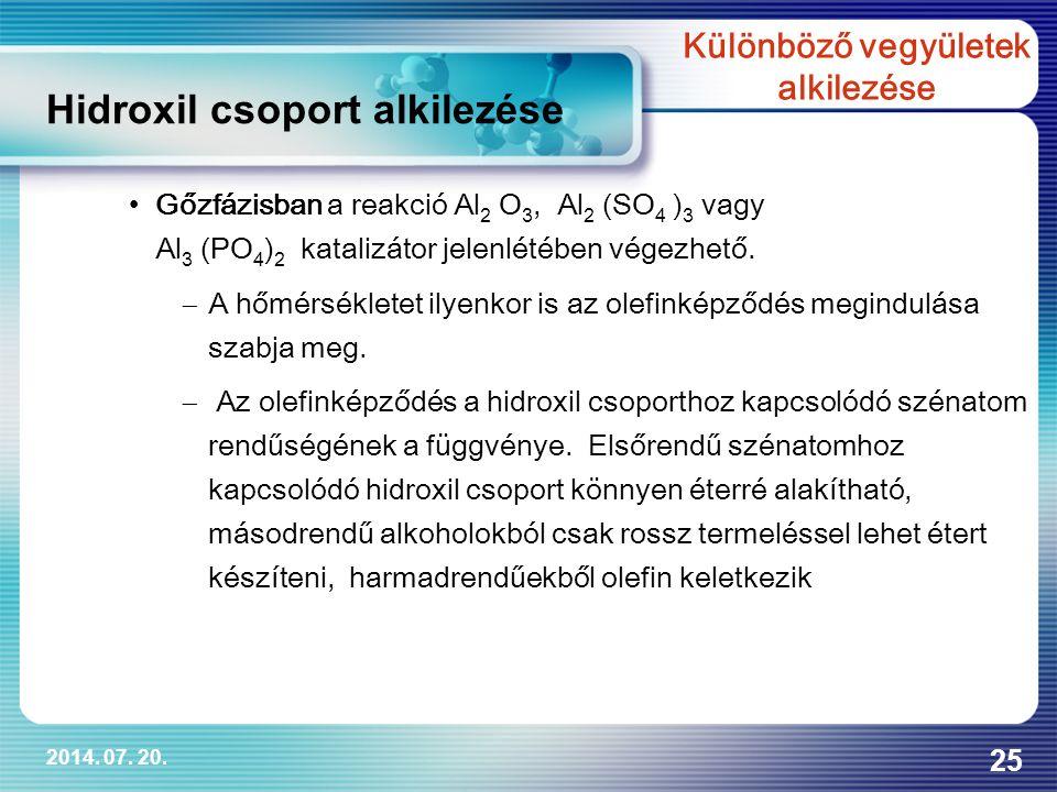 Különböző vegyületek alkilezése