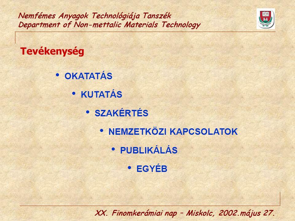 XX. Finomkerámiai nap – Miskolc, 2002.május 27.