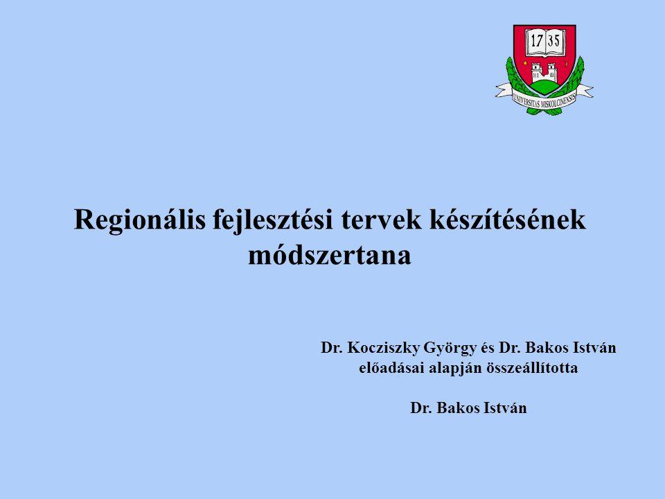 Regionális fejlesztési tervek készítésének módszertana