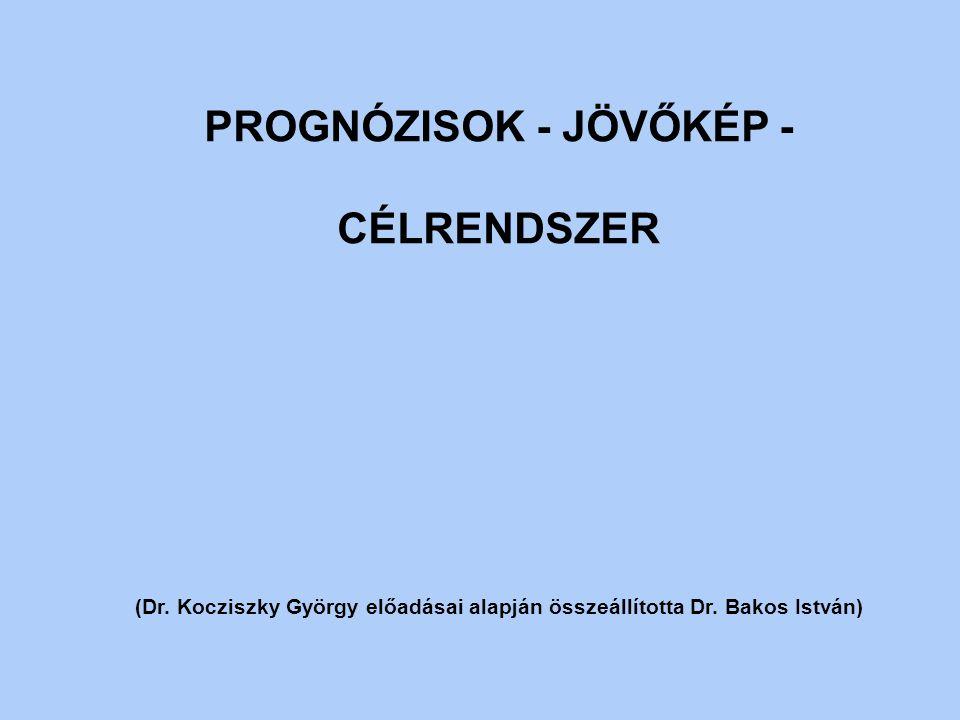 PROGNÓZISOK - JÖVŐKÉP - CÉLRENDSZER (Dr