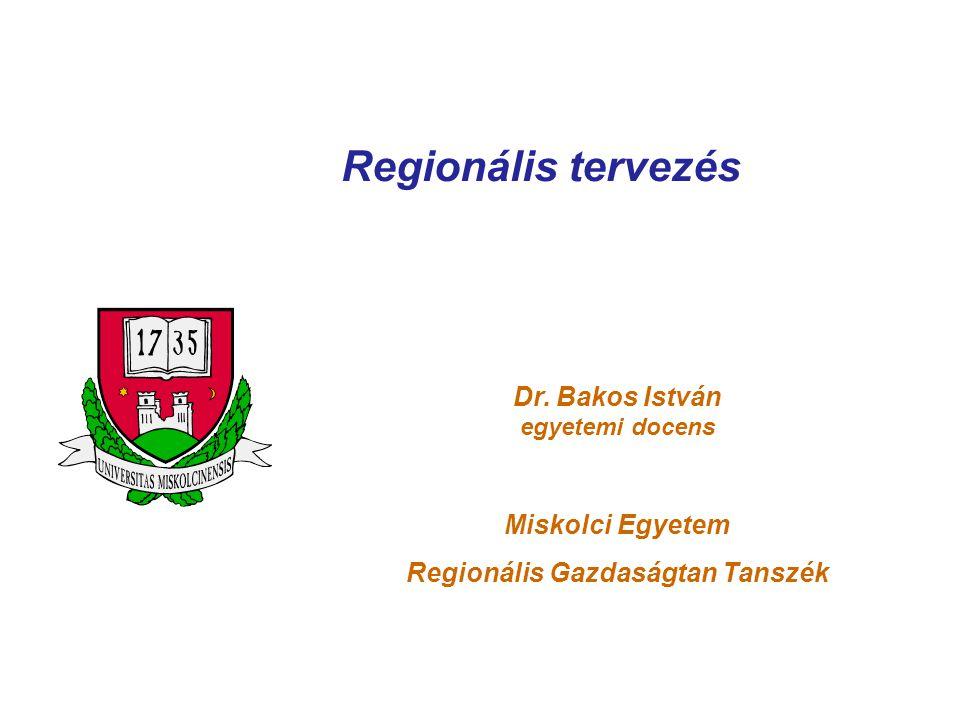Regionális Gazdaságtan Tanszék