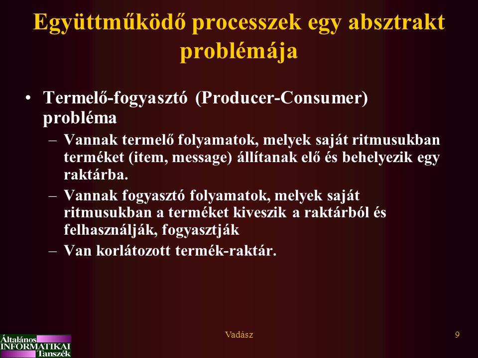 Együttműködő processzek egy absztrakt problémája