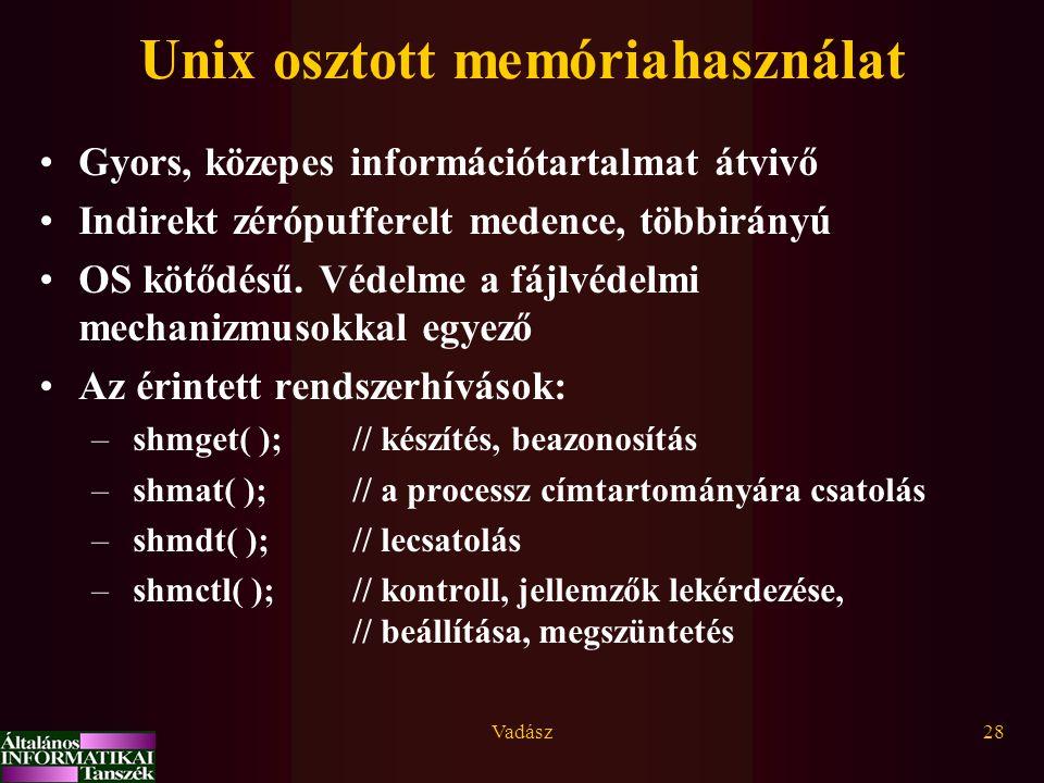 Unix osztott memóriahasználat