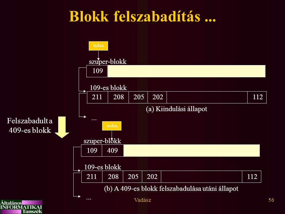 Blokk felszabadítás ... Felszabadult a 409-es blokk szuper-blokk 112