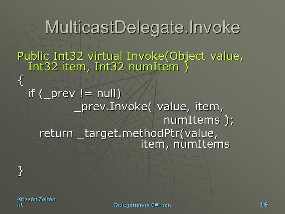 MulticastDelegate.Invoke