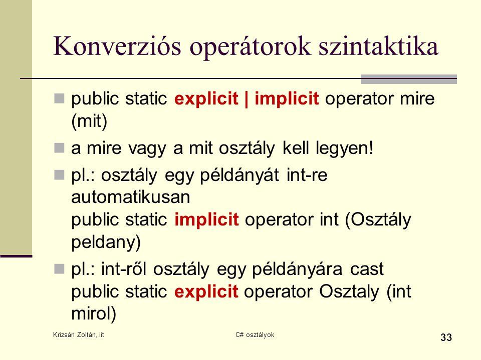 Konverziós operátorok szintaktika