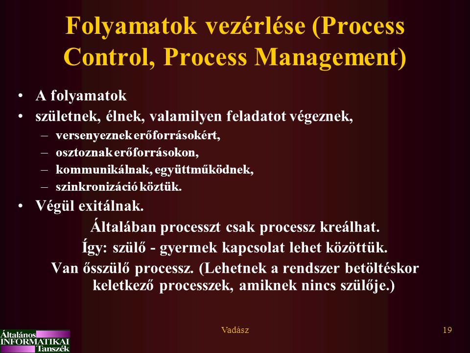 Folyamatok vezérlése (Process Control, Process Management)