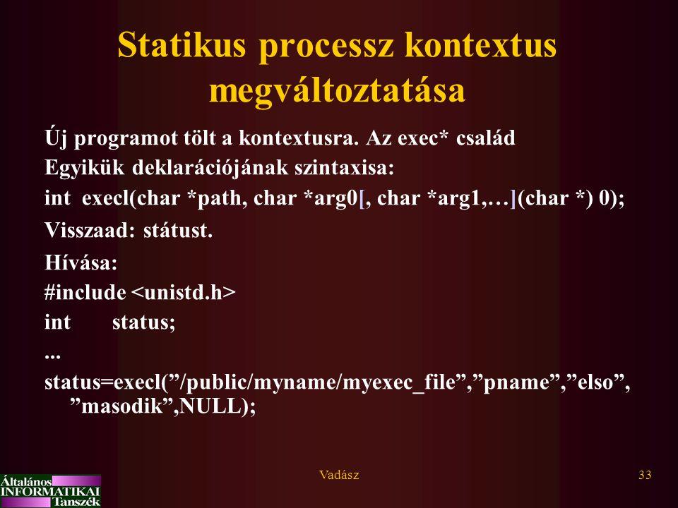Statikus processz kontextus megváltoztatása