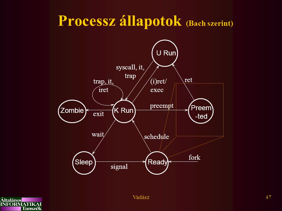 Processz állapotok (Bach szerint)