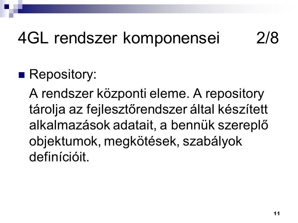 4GL rendszer komponensei 2/8