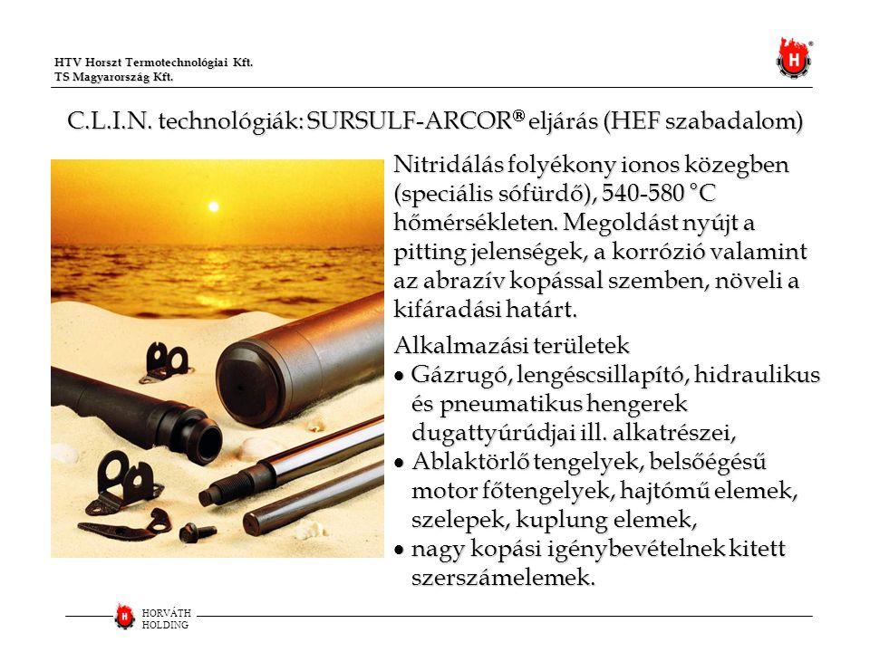 C.L.I.N. technológiák: SURSULF-ARCOR eljárás (HEF szabadalom)