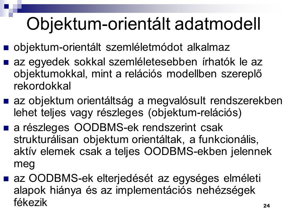 Objektum-orientált adatmodell
