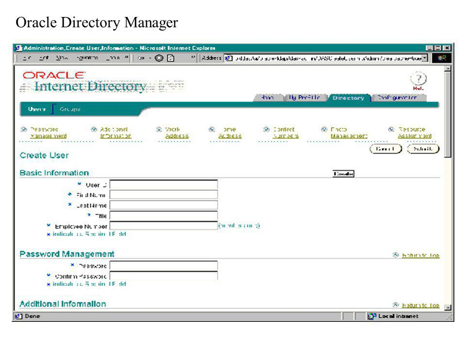Oracle Directory Manager