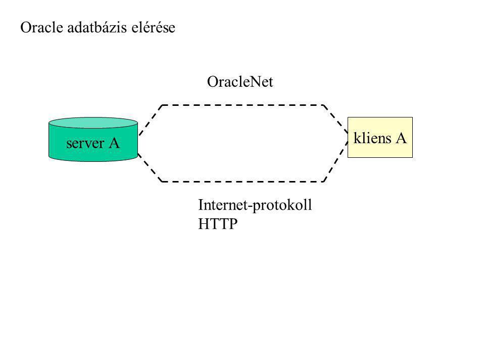 Oracle adatbázis elérése