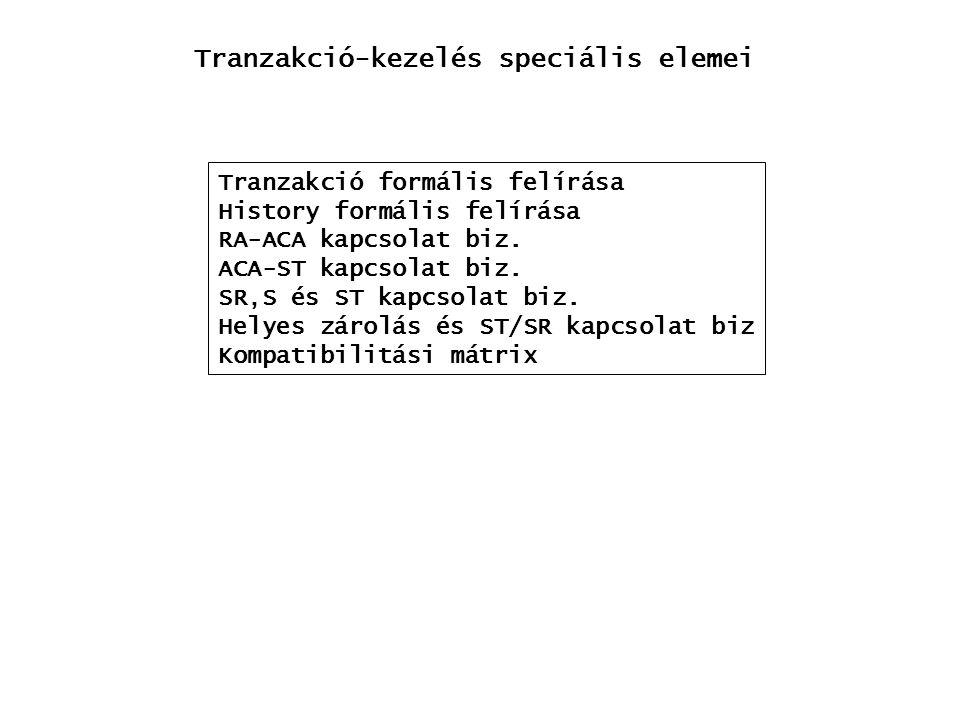 Tranzakció-kezelés speciális elemei