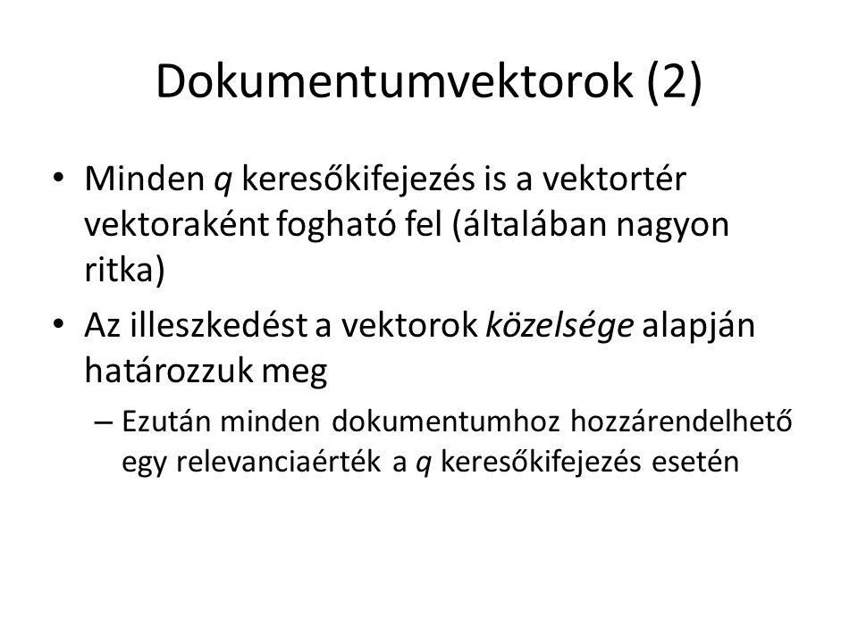 Dokumentumvektorok (2)