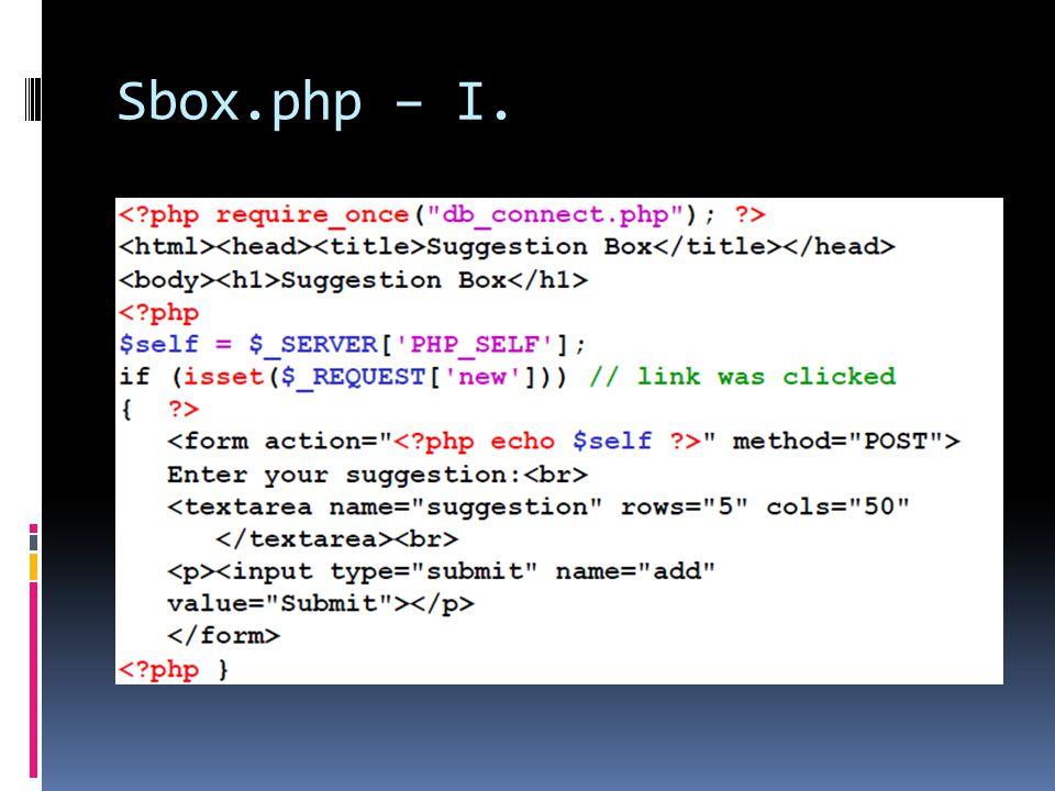 Sbox.php – I.