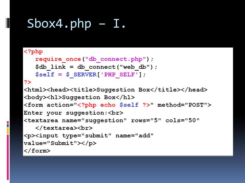 Sbox4.php – I.