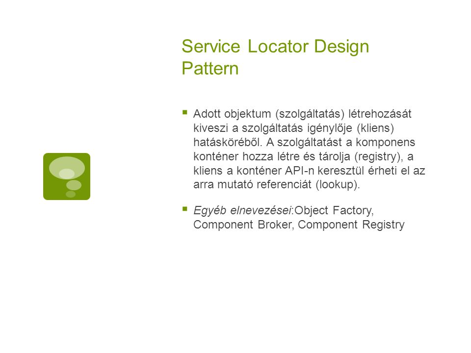 Service Locator Design Pattern