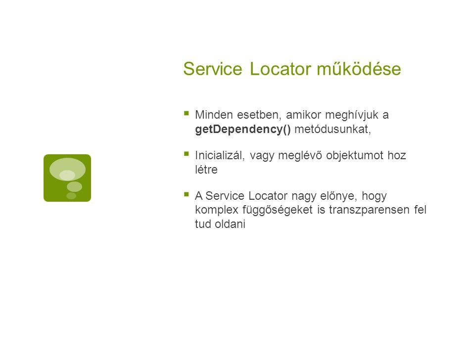 Service Locator működése
