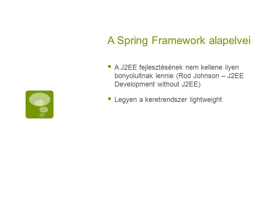 A Spring Framework alapelvei