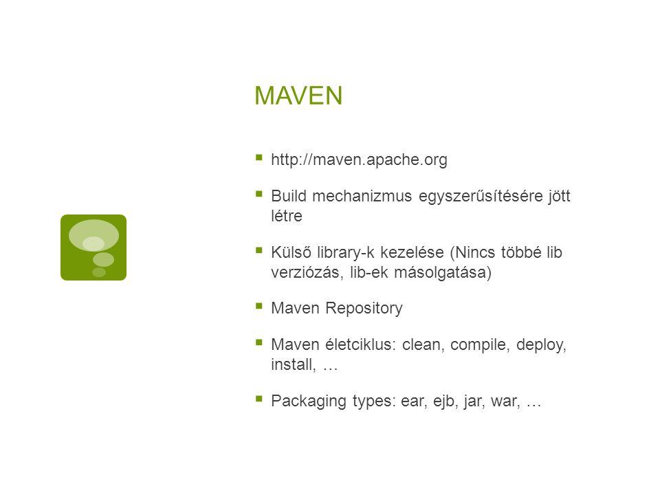 MAVEN http://maven.apache.org
